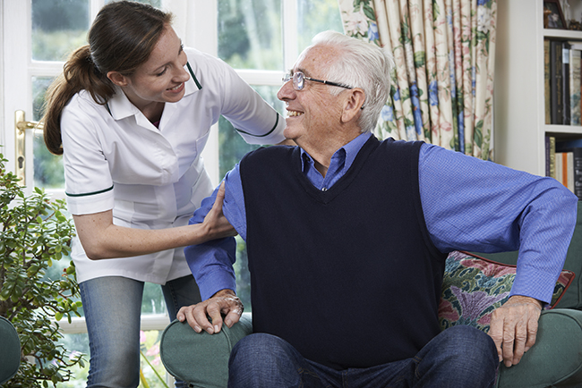 CareGiver Helping Senior - Home Support Services
